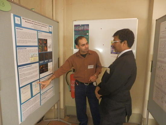 Counsellor (Science and Technology), Embassy of India at the poster session!