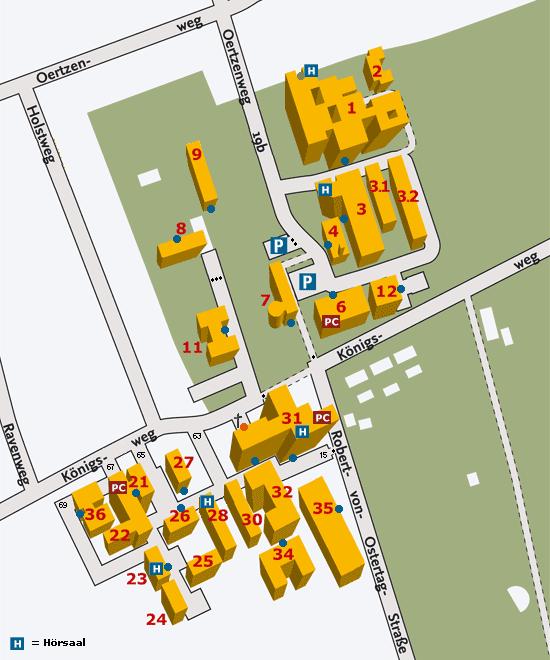 Lageplan des Standortes